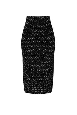 Dot Printed Pencil Skirt by Emporio Armani