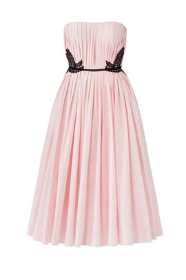 Pink Embroidered Midi Dress by J. Mendel