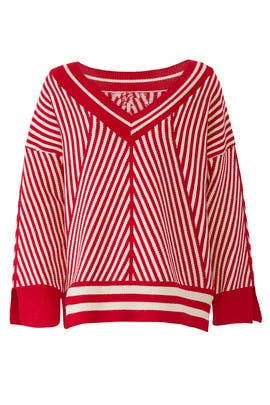 Red Striped Sweater by Moon River