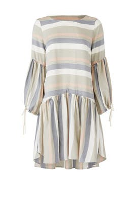Striped Faro Dress by Paper Crown
