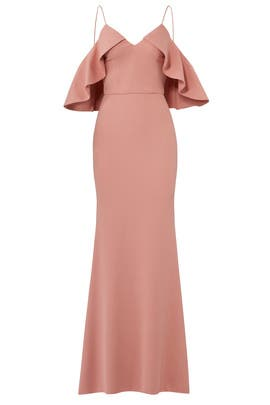 Clay Ruffle Gown by Christian Siriano