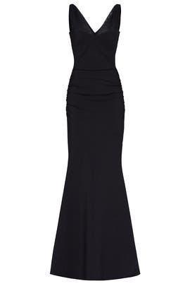 27ae4f8c Black Luce Illusion Gown by La Petite Robe di Chiara Boni for $135 ...