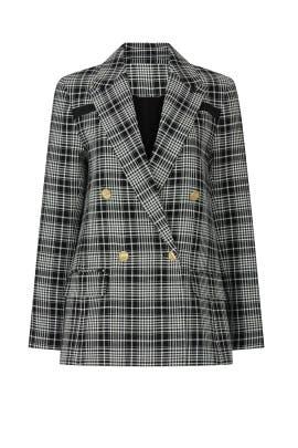 Talia Plaid Jacket by Tanya Taylor