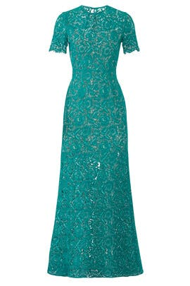 Green Star Crossed Gown by Aijek