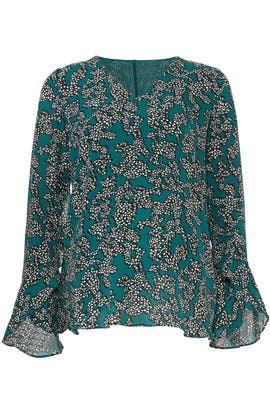 Green Floral Maternity Top by A Pea in the Pod