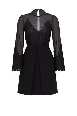 Black Illusion Lace Dress by Jill Jill Stuart