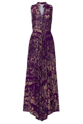 Purple Sleeveless Dress by Kahindo