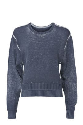 Blue Ribbed Crewneck Sweater by Lululemon