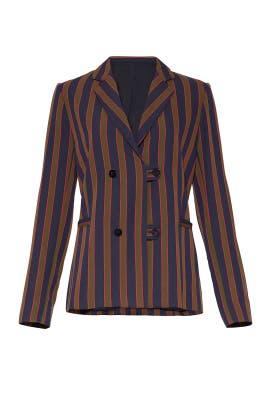 Earhart Stripe Blazer by Nicole Miller