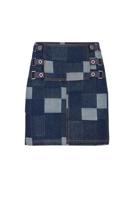 Denim Tab Skirt by Opening Ceremony
