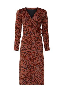 Brown Zebra Wrap Dress by Sweet Baby Jamie