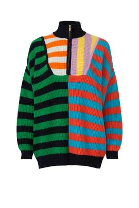 Multi Striped Hampton Sweater by Staud