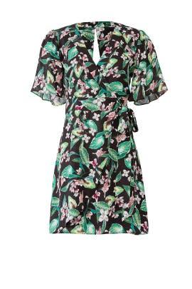Kimi Printed Wrap Dress by Adelyn Rae