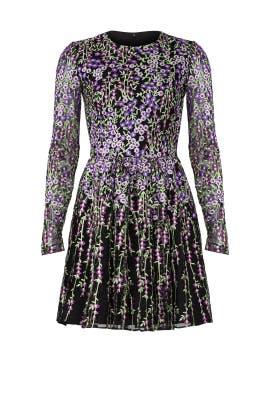 Purple Floral Dress by Badgley Mischka