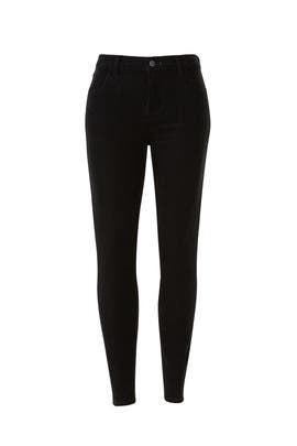 Black Corduroy Alana Jeans by J BRAND