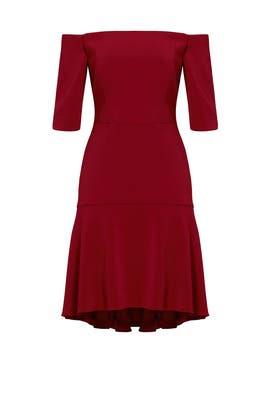 Bordeaux Italian Cady Nina Dress by Milly
