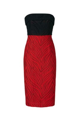 Stitch Colorblock Dress by ML Monique Lhuillier
