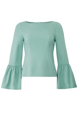 Egg Blue Corset Top by Tibi