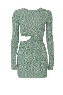 Turquoise Cutout Dress by Aya Muse