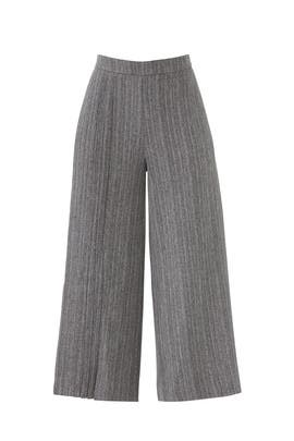 Grey Pleated Culottes by Osman
