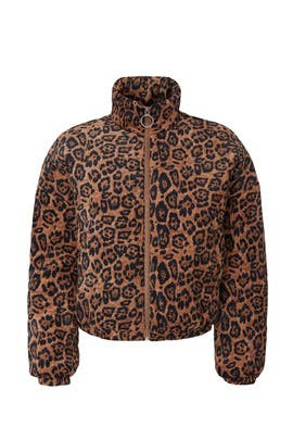 Leopard Corduroy Puffer Jacket by RTR NOW