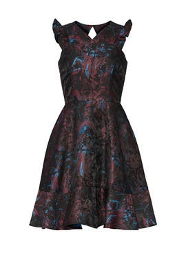 Abstract Ruffle Dress by Slate & Willow