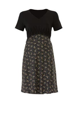 Black Floral Maternity Dress by Slate & Willow