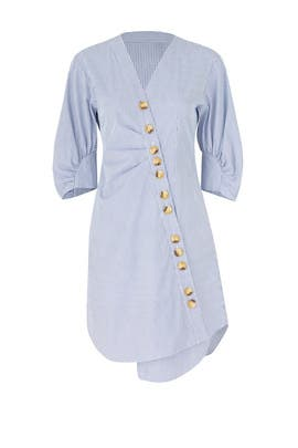 Jones Striped Shirtdress by Tibi