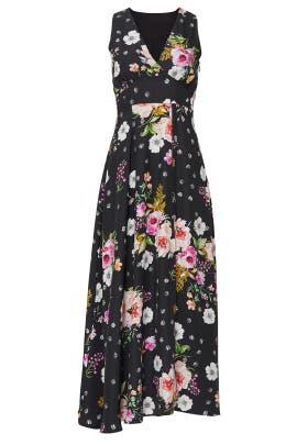 Black Floral Sasha Dress by Yumi Kim