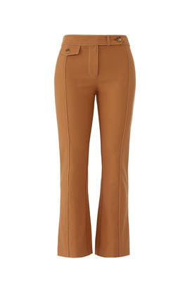 Camel Cropped Flare Trousers by Derek Lam 10 Crosby