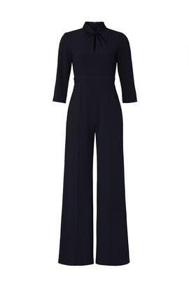 Navy Keyhole Jumpsuit by Donna Morgan