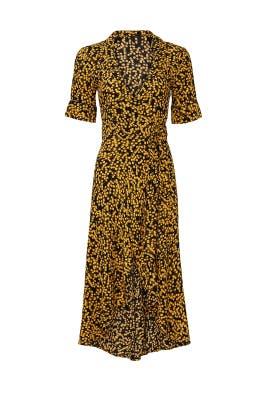 Mixed Floral Midi Dress by GANNI