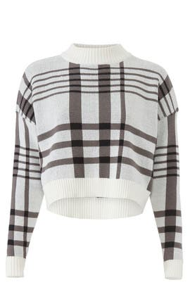 Anna Crop Check Sweater by MINKPINK