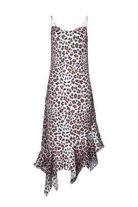 Leopard Spaghetti Strap Dress by Marques' Almeida