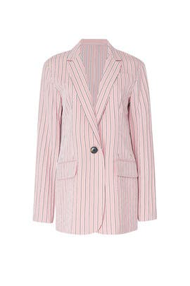 Pink Oversized Blazer by Tibi