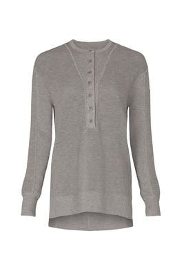 Grey Henley Sweater by Thakoon Collective