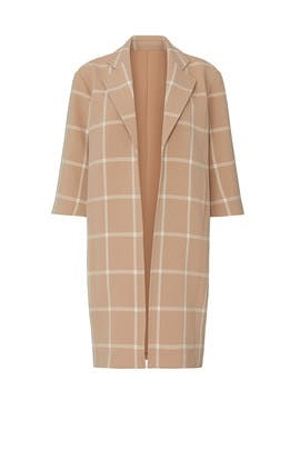 Nude Plaid Coat by Toccin
