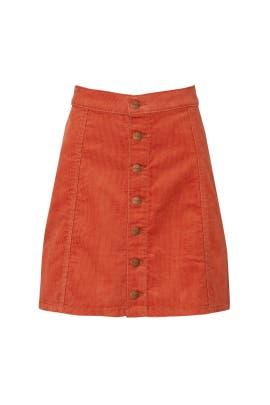 Button Front Mini Skirt by WRANGLER