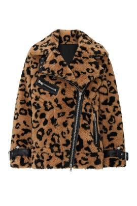 Faux Fur Teddy Biker Jacket by Avec Les Filles