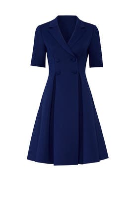 Blue Flare Suit Dress by Badgley Mischka