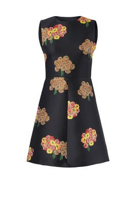 Floral Jacquard Mini Dress by RED Valentino