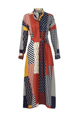 Geometric Bianca Dress by Tory Burch
