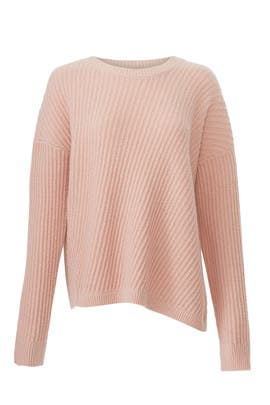 Side Slit Crew Sweater by VINCE.