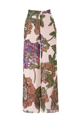 Floral Wide Leg Pants by Badgley Mischka