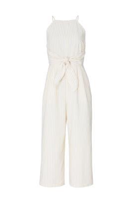 Anabella Stripe Culotte Jumpsuit by Greylin
