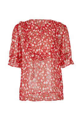Sheer Rosa Print Top by The Kooples