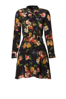 Black Floral Tie Dress by The Kooples