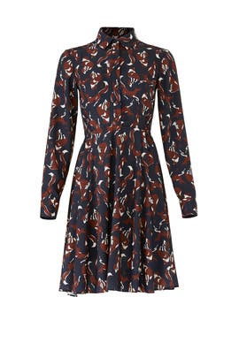 Foxes Smocked Dress by kate spade new york