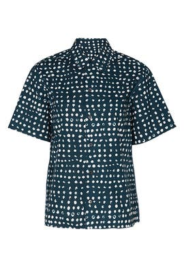 Polka Dot Polo Neck Shirt by Marni