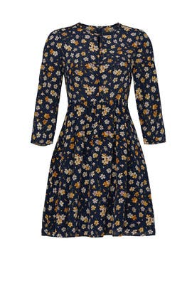 Floral Ruched Retro Dress by Madewell